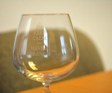Keep Calm Engraved Novelty Glass