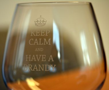 Keep Calm Engraved Novelty Glass