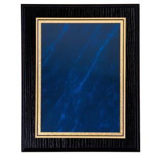 Black Ash Plaque with Blue Mist Front