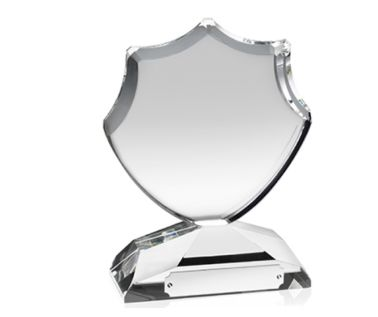 Engraved Crystal Shield Award AC64
