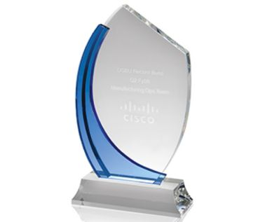 Engraved Crystal Award Plaque AC79