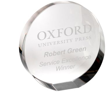 Personalised Clear Glass Round Paperweight