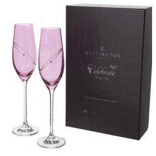 Engraved Wine Glasses - Glitz Pink Celebration (Pairs)