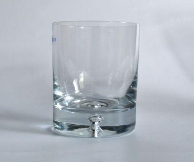 Engraved Whisky Glass - Bubble Base