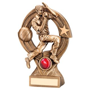 "Gold ""Bowler"" Cricket Trophy JR6-RF219"