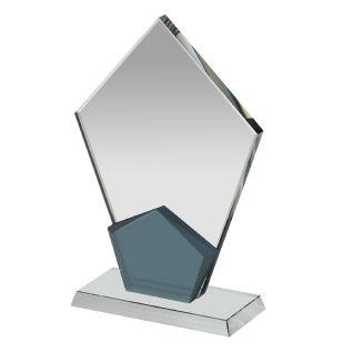 Clear Black Crystal Diamond Corporate Award NTC008