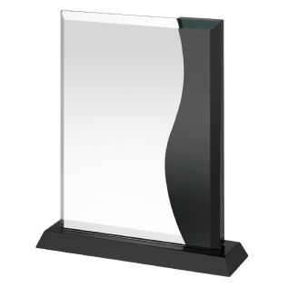 Black Crystal Corporate Glass Award GLC038
