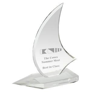 Crystal Boat Award DC002