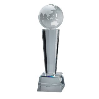 Crystal Globe Paperweight AC02