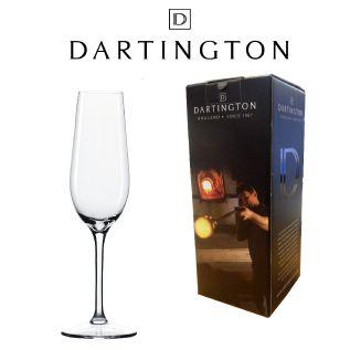 Engraved Champagne Glass - Dartington Orbit Flute