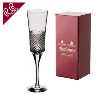 Engraved Champagne Glass - Royal Brierley Antibes