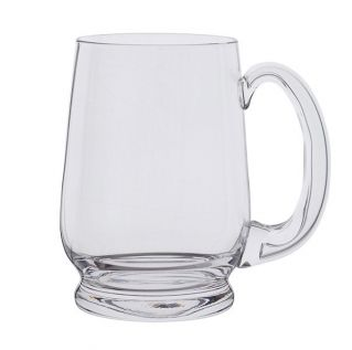 Engraved Glass Tankard - Barleycorn 1pt