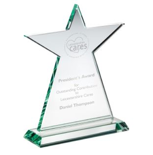 Engraved Recognition Star Award KG4
