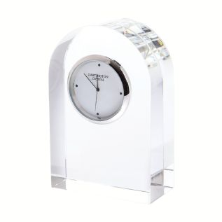 Engraved Dartington Crystal Curved Clock