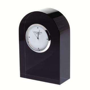 Engraved Dartington Crystal Curved Clock