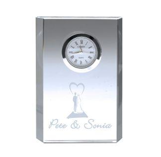 Tapered Rectangular Glass Clock
