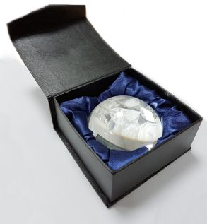 Domed Crystal Paperweight