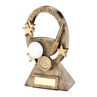 Longest Drive Gold Resin Award JR2-RF732LD