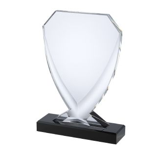 Black Optical Crystal Shield Award AC222