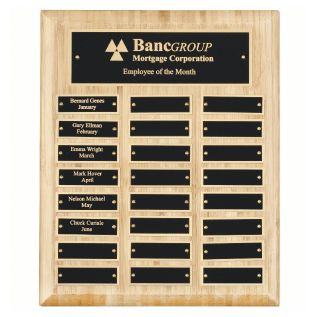 Bamboo Plaque WP12
