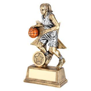 Female Basketball Trophies JR15-RF179