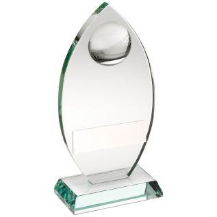 Jade Clear Glass Cricket Tower Trophy JR6-TD446