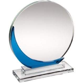 Clear and Blue Glass Award JB1001