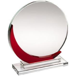 Clear and Red Glass Award JB1002