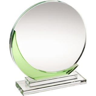 Clear and Green Glass Award JB1003