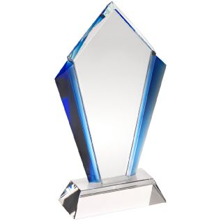 Clear and Blue Glass Award JB2001