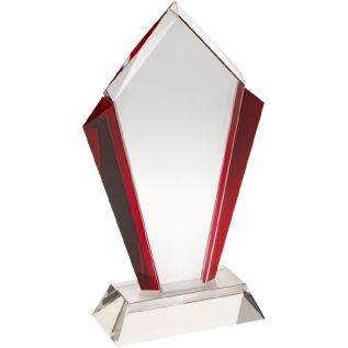 Clear and Red Glass Award JB2002
