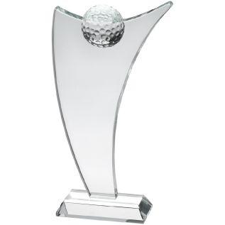 Clear Glass Golf Award JB3060