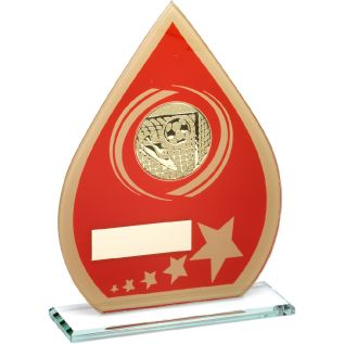 Red/Gold Glass Football Award JR1-TD149