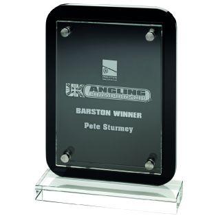 Printed Clear Glass/ Black Wood Award CBG20