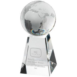 Clear Glass Globe Award JB3010