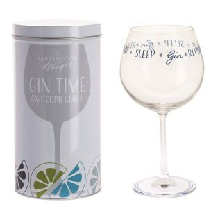 """Eat, Sleep, GIN, Repeat"" Copa Glass"