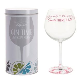 """Smile There's Gin"" Copa Glass"