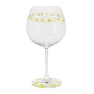 """""""Let the Good Times Be Gin"""" Copa Glass"""