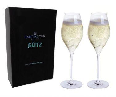 Engraved Wine Glasses - Glitz Prosecco (Pair)