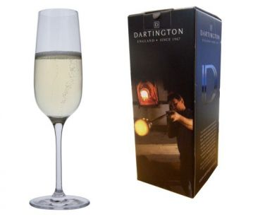 Engraved Champagne Glass - Dartington Drink Flute