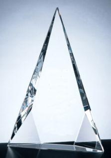 Triangular Crystal Trophy Award C322