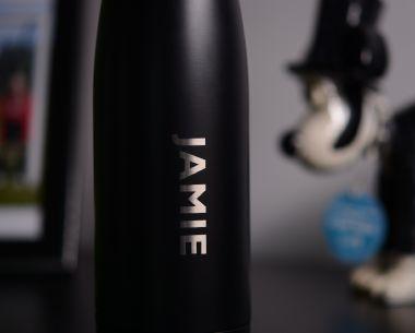 Black Stainless Steel Drinks Bottle