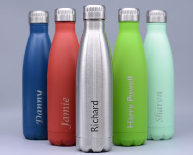 Blue Stainless Steel Drinks Bottle