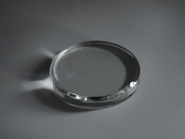 Engraved Glass Paperweight