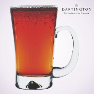 Engraved Glass Tankard - Dartington Dimple