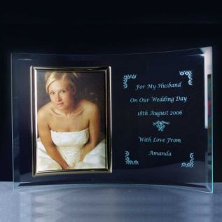 "Curved Photo Frame 5"" x 7"""