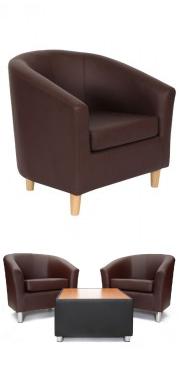 Tritium Tub Chair Brown