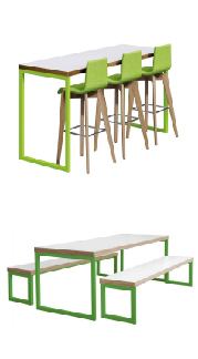 Bench Sets by Cafe Reality
