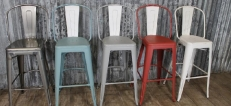 Pub and Bar Metal High Stools