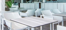 Cafe Tables with Compact Laminate Tops